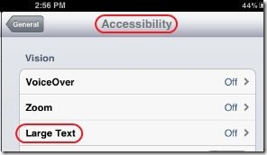 How To Increase Text Font Size On iPad 3