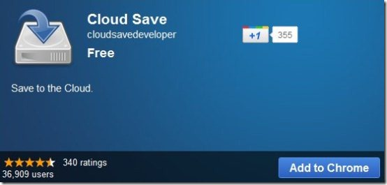 Google Cloud Save chrome