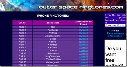 Outer Space Ringtones
