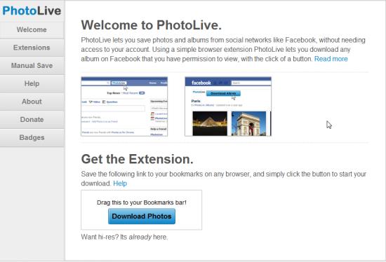 Download Facebook Photos: PhotoLive