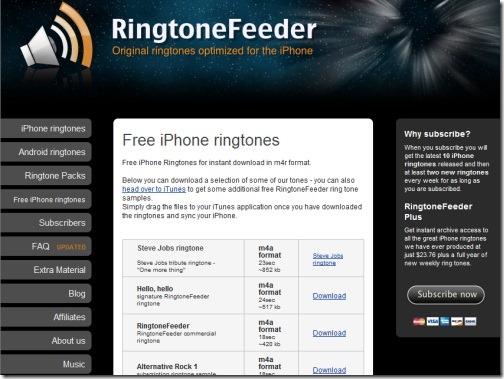 Ringtone  Feeder