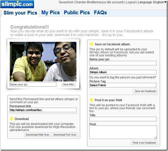 Slimpic free online photo editor