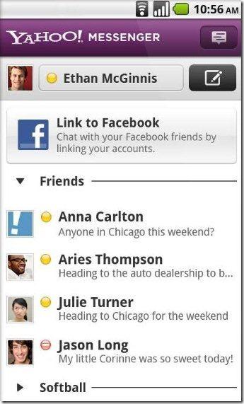 Yahoo Messenger Facebook