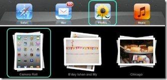 how to create a new photo album on iPad