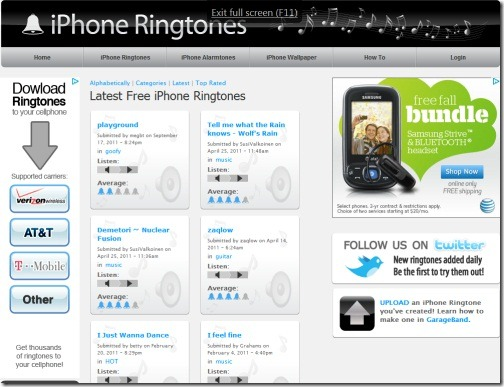 iPhone Ringtones