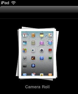 ipad screenshot camera roll