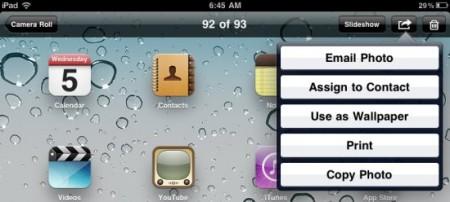 ipad screenshots sending options