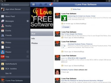 official facebook app for ipad