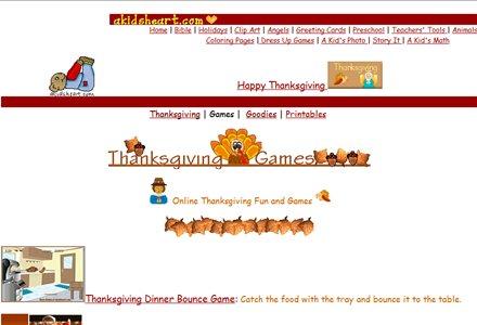 A Kids heart Thanksgiving Games