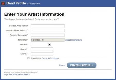 Band Profile Registration