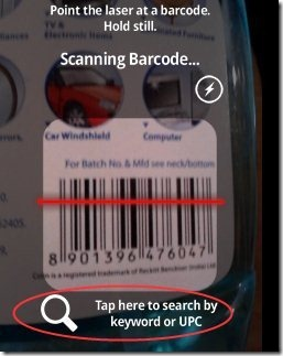 Barcode Scanner Search