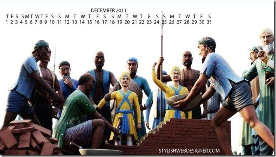 December2011 Calendar wallpaper005