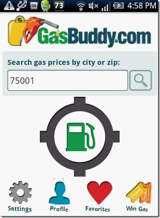 GasBuddy Home Page