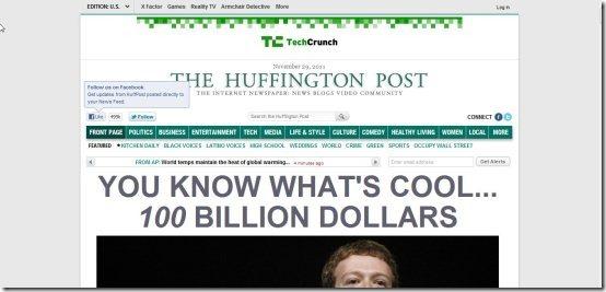 News aggregators Huffington Post