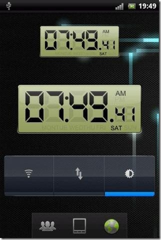 LCD Clock Background