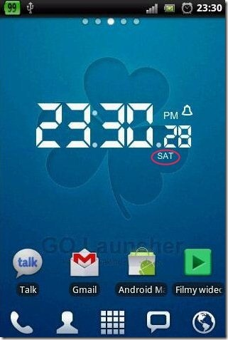 LCD Clock feature