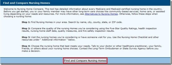 Compare nursing homes