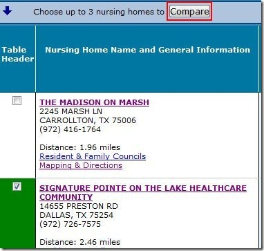 Compare nursing homes 3