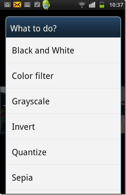 Photo Editor color options