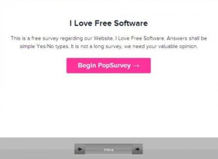 Online Survey Creator Pop Survey