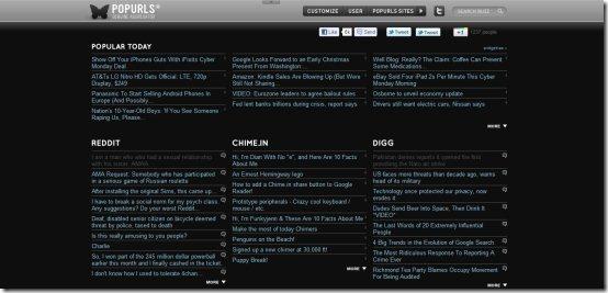 News Aggregators Popurls