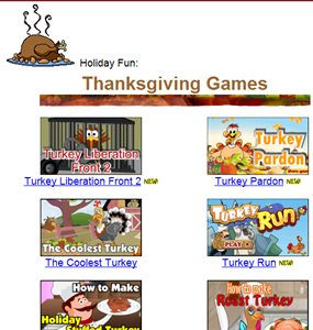 Primary Games Thanksgiving games