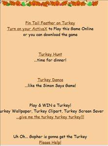 BillyBear4kids thanksgiving games