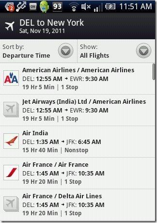 WorldMate Flights