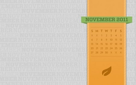 desktop wallpaper calendar November PL