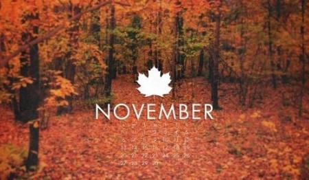 desktop wallpaper calendar November SM
