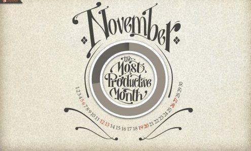 desktop wallpaper calendar November SM3