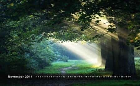desktop wallpaper calendar November SWD