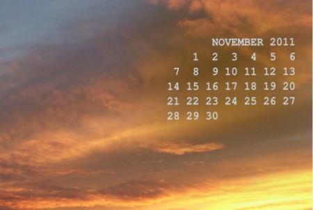 desktop wallpaper calendar November wC
