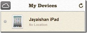 iCloud Device List