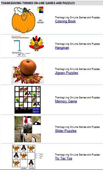 thanksgiving games website