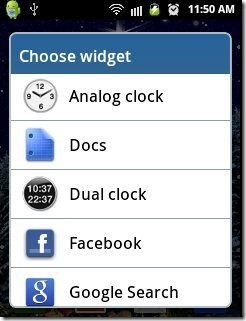 Android Widget list