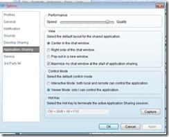 Application Sharing Setup