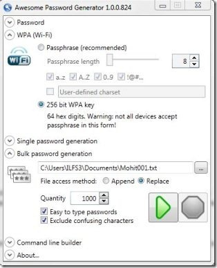 Awesome password  generator002