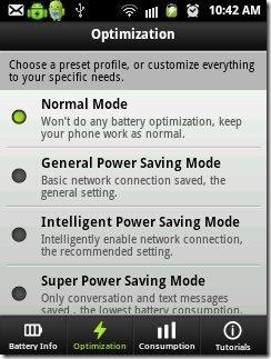 Easy Batter Saver Power Saving Modes