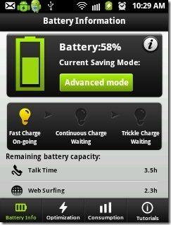 Easy Battery Saver Battery info