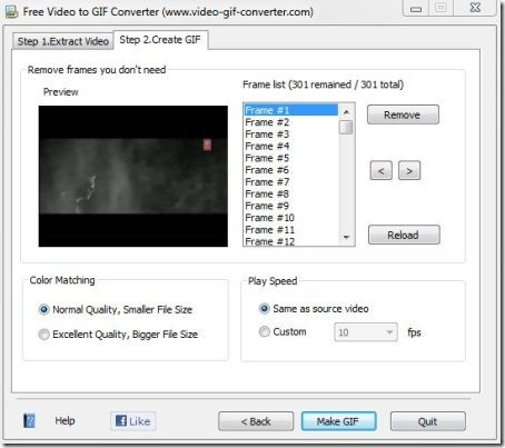 Free video to GIF converter001