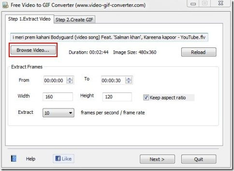 Free video to GIF converter002