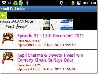 Hindi TV Serials Episode List