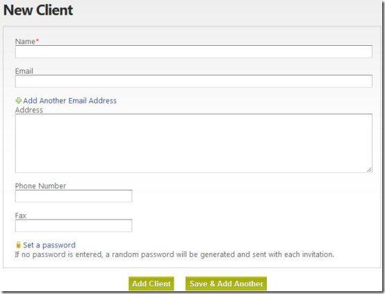 Invoice Dude Client adding