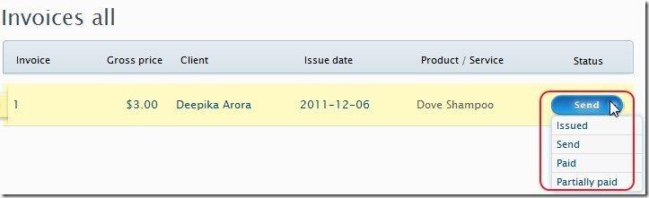 Invoice Ocean Status Update