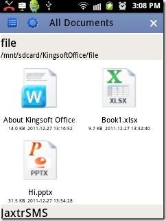 Kingsoft Office all documents