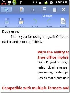 Kingsoft Office reader