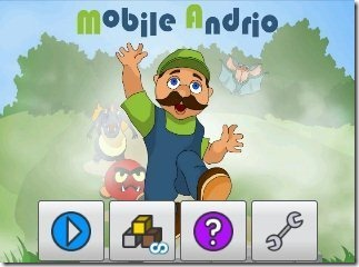 Mobile Andrio home page