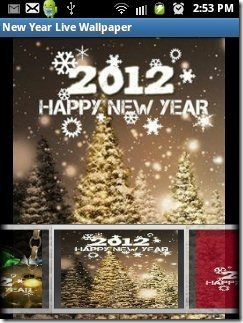New Year Live Wallpaper App backgrounds