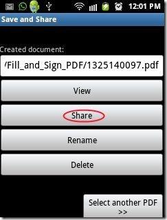 PDF Filler app share